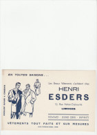 -  BUVARD Créme - Vêtements Henri ESDERS à LIMOGES - 021 - Textile & Vestimentaire