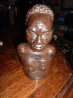 SCULPTURE BUSTE  BOIS FEMME - Art Africain
