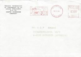 "France 1984 Aubagne Regiment Etranger Foreign Legion Fremdenlegion Meter Franking  Havas ""T"" Cover - Militaire Stempels Vanaf 1900 (buiten De Oorlog)"