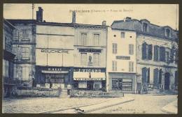 BARBEZIEUX Rare Place Du Marché  Boucherie Reaux, Vicard, Brun (Dumont) Charente (16) - Autres Communes