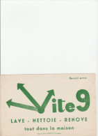 -  BUVARD VITE 9  - 036 - Pulizia
