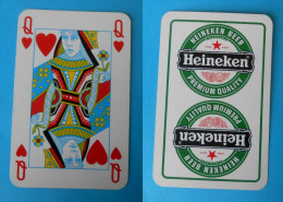 HEINEKEN BEER - Single Playing Card ( Famous Beer Brand ) * Poker Swap Playing Cards * Bière Bier Cerveza Birra - Playing Cards (classic)
