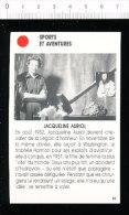 Jacqueline AURIOL / Aviation Aviatrice  //  01-ES/3 - Vieux Papiers