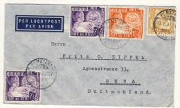 Niederl�ndisch Indien Brief 1937 nach Deutschland / Perfin Firmenlochung