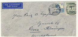 Niederl�ndisch Indien Brief 1935 nach Deutschland / Perfin Firmenlochung