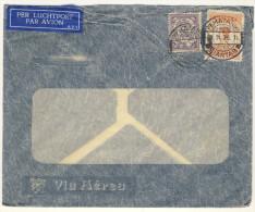 Niederl�ndisch Indien Brief 1936 nach Deutschland / Perfin Firmenlochung