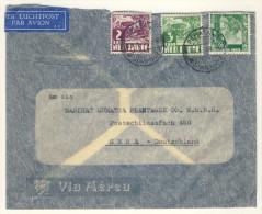 Niederl�ndisch Indien Brief 1938 nach Deutschland / Perfin Firmenlochung