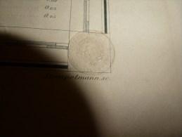 1864 ?  SUISSE-ITALIE :Eidgenossisches Militair Archiv  (Hauteurs Points Culminants) Dim. Hors-tout = 87cm X 67cm - Landkarten