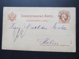 Postkarte GANZSACHE Prelouc - Kolin 1877 //  D*16047 - 1850-1918 Imperium
