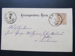 Postkarte GANZSACHE GRAZ - Leoben 1884  //  D*16048 - 1850-1918 Imperium
