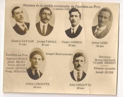 S2355 - Victimes De La Terrible Catastrophe De Comblain-au-Pont Le 3 Janvier 1929 - Personnes Identifiées