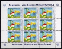 Tagikistan Tadzikistan Member Of The Inited Nations Flag Emblem M/F - Tagikistan