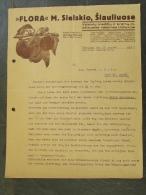 Facture Invoice Kredietnota Litouwen Lietuvoje 1937 Horticulture - Autres
