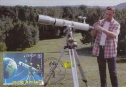 België, Maximumkaarten, Nr 3887 (6151) - Astronomie
