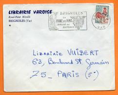 BRIGNOLES  SEMAINE DES RAMEAUX     26 / 1 / 1967   Lettre Entière N° J 61 - Sellados Mecánicos (Publicitario)