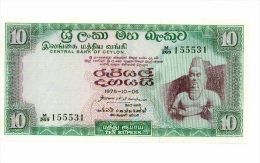 Ceylan 10 Rupees 1975 NEUF - Banknotes