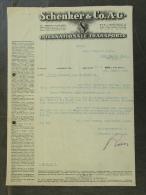 Facture Invoice Kredietnota Transport Schenker Wien Vienna   1937 - Belgique