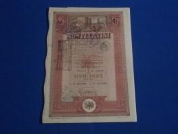 Titolo Montecatini  Da 25 Azioni Con 38 Cedole Anno 1948 - Shareholdings