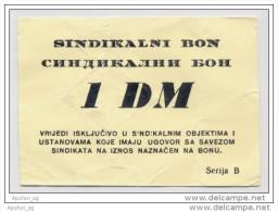 BOSNIA - BOSNIEN UND HERZEGOWINA,  1 German Mark(1993) VF, MEDICAL CENTRE In BANJA LUKA War Emergency Note - Bosnia Y Herzegovina