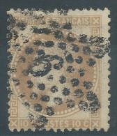 Lot N°28284   N°28A, Oblit étoile Chiffrée 9 P1 De PARIS ( R. Montaigne ) - 1863-1870 Napoléon III Lauré