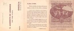 """01446 """"ONEGLIA - E. AMORETTI DI LORENZO - OLIO PURO D'OLIVA - 1948"""" . PUBBLICITA' A STAMPA ORIGINALE - Alcolici"""