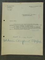 Facture Invoice Kredietnota De Rudder Boekhouder Gent Bagattenstraat  1949 - Belgique