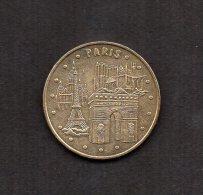 MEDAILLE TOURISTIQUE MONNAIE DE PARIS 2003 : LES 4 MONUMENTS PARIS . - Monnaie De Paris