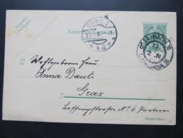 Postkarte GANZSACHE LAIBACH - GRAZ 1907  ///  D*16088 - 1850-1918 Imperium