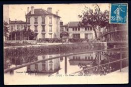 CPA ANCIENNE- FRANCE- TOUL (54)- LE CANAL  A SAINT-MANSUY- MARÉCHALERIE-CARROSSERIE- ANIMATION- PASSERELLE- - Toul