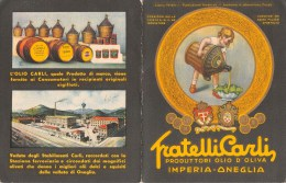 """01447 """"IMPERIA - ONEGLIA - FRATELLI CARLI  - PRODUTTORI OLIO D'OLIVA - 1948"""" . PUBBLICITA´ A STAMPA ORIGINALE - Alcolici"""