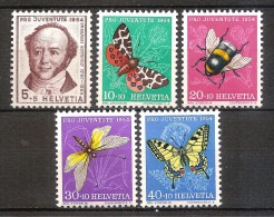 Switzerland 1954 - Jeremias Gotthelf And Insects - Zwitserland