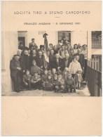 """01448 """"SOCIETA' TIRO A SEGNO CARCOFORO (VC) - PRANZO ANZIANI - 6 GENNAIO 1961"""" . ANIMATA, FOTOGRAFIA ORIGINALE - Persone Identificate"""