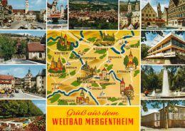 1 MAP Of Germany * 1 Ansichtskarte Mit Der Landkarte Von Bad Mergentheim Und Umgebung * - Landkarten
