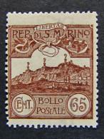 """(E)SAN MARINO -1903- """"Vedute"""" C. 65 MNH** (descrizione) - Nuovi"""