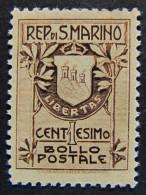 """(E)SAN MARINO -1910- """"Stemma"""" C. 1 MNH** (descrizione) - San Marino"""