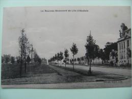 CPA 59 Roubaix - Le Nouveau Boulevard De Lille - Vue D'ensemble Avec Petite Animation   A Voir ! - Roubaix