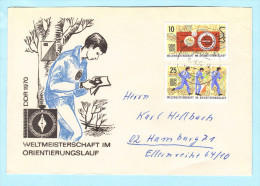 DDR GDR RDA FDC Brief Cover Lettre 1605-1606 WM Im Orientierungslauf Sport  (31778) - DDR