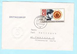 DDR GDR RDA FDC Brief Cover Lettre 1652 NVA 15 Jahre   (31792) - [6] Democratic Republic