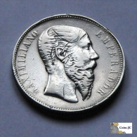 México - 50 Centavos - 1866 - Maximiliano - Scarce - Mexiko