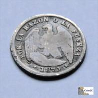Chile - 1/2 Décimo - 1871 - Chili