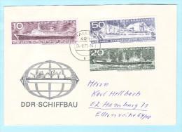 DDR GDR RDA FDC Brief Cover Lettre 1693 1695 1698 Schiffe Schiffbau  (31797) - [6] Democratic Republic