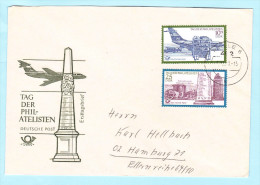 DDR GDR RDA FDC Brief Cover Lettre 1703-1704 Philatelie Flugzeug Post   (31801) - DDR