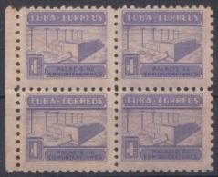 1951-132 CUBA. REPUBLICA. 1951. SOBRETASA BENEFICENCIA TUBERCULOSIS. Ed.11. BLOCK 4. GOMA ORIGINAL TROPICALIZADA. - Prefilatelia