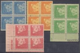 1952-120 CUBA. REPUBLICA. 1952. SOBRETASA BENEFICENCIA TUBERCULOSIS. Ed.17-20. BLOCK 4. GOMA ORIGINAL TROPICALIZADA. - Prefilatelia