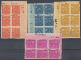 1955-120 CUBA. REPUBLICA. 1955. SOBRETASA BENEFICENCIA TUBERCULOSIS. Ed.26-29. BLOCK 6. GOMA ORIGINAL TROPICALIZADA. - Prefilatelia
