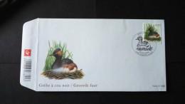 BUZIN - Grèbe à Cou Noir Sur Fdc Numéro 3546 - 2001-10
