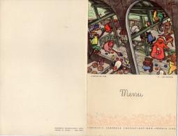 """MENU  COMPAGNIE GENERALE TRANSATLANTIQUE Paquebot """"Ile De France""""   L´ARCHE DE NOE Les Sports 30 Juin 1958 - Menu"""