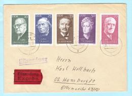 DDR GDR RDA FDC Brief Cover Lettre EXPRESS 1731-1735 Personen  (2 Scan) (31805) - DDR