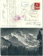 "Zensurierte AK  ""Jungfrau""  Scheidegg (Bahnstempel) - Wien           1917 - Svizzera"