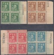 1956-134 CUBA. REPUBLICA. 1956. SOBRETASA BENEFICENCIA TUBERCULOSIS. Ed.30-33. BLOCK 4. GOMA ORIGINAL TROPICALIZADA. - Prefilatelia